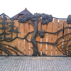 Кованые ворота КВ_90