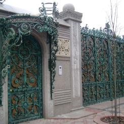 Кованые ворота КВ_100