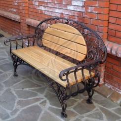Кованая скамейка для сада КС_1