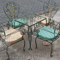 Кованый стол и стулья КСС_10