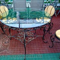 Кованый стол и стулья КСС_11