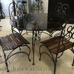 Кованый стол и стулья КСС_12