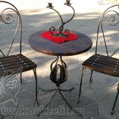 Кованый стол и стулья КСС_14