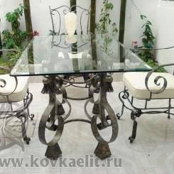 Кованый стол и стулья КСС_16