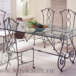 Кованый стол и стулья КСС_18