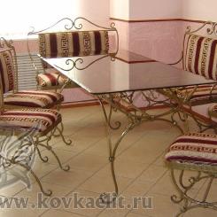 Кованый стол и стулья КСС_19