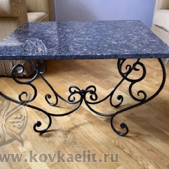 Кованый стол и стулья КСС_23