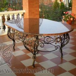 Кованый стол и стулья КСС_32