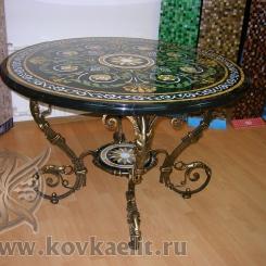 Кованый стол и стулья КСС_37