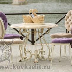 Кованый стол и стулья КСС_8