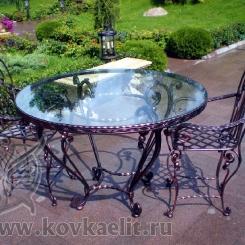 Кованый стол и стулья КСС_9