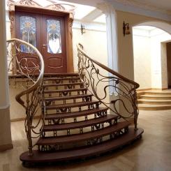 Кованая лестница КЛ__91