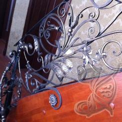Кованые перила с цветами КП_35