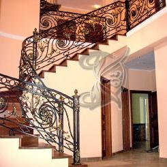 Кованые перила для лестницы в частном доме КП_50
