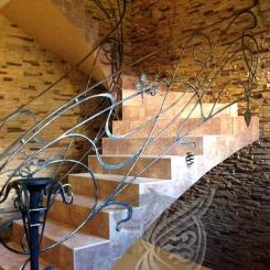 Кованые перила для лестницы КП_61