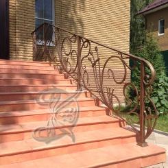 Кованые перила на уличной лестницы КП_87