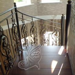 Кованые перила для деревянной лестницы КП_88