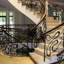 Кованые перила для лестниц в частном доме КП_113