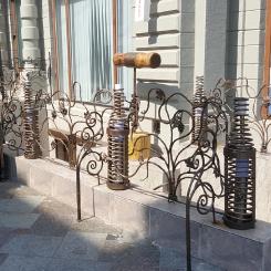Кованые перила в стиле хай-тек КП_91