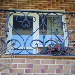 Кованый балкон КБ_31