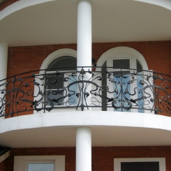 Кованый балкон КБ_35
