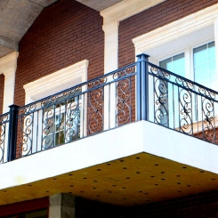 Кованый балкон КБ_40