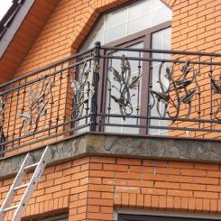Кованый балкон КБ_41