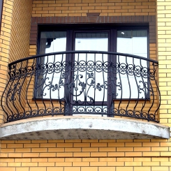 Кованый балкон КБ_46