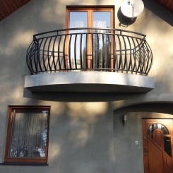 Кованый балкон КБ_49