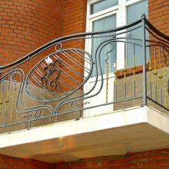 Кованый балкон КБ_51