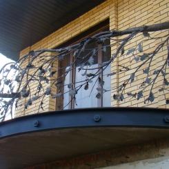 Кованый балкон КБ_55