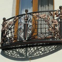 Кованый балкон КБ_61