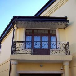 Кованый балкон КБ_71