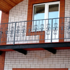 Кованый балкон КБ_79