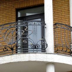 Кованый балкон КБ_90