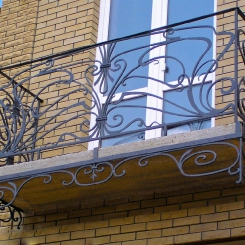 Кованый балкон КБ_97